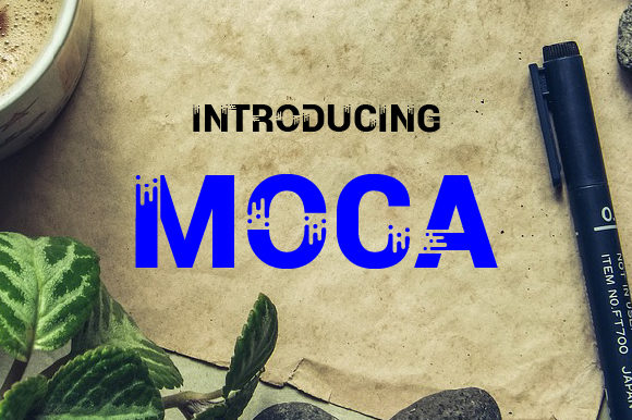 Moca Display Font By da_only_aan