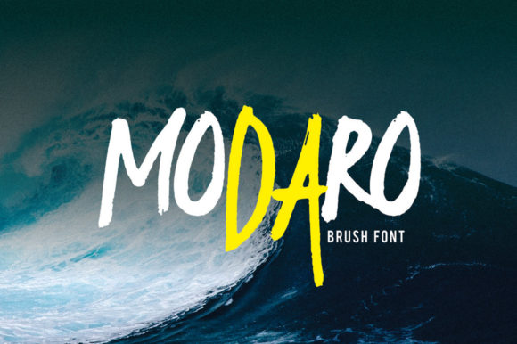 Print on Demand: Modaro Display Font By 160 Studio