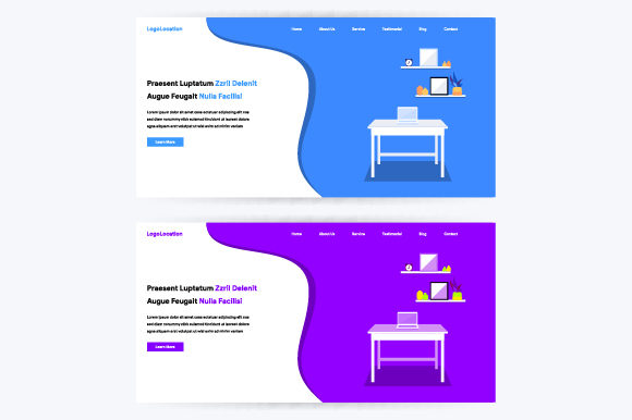 Modern Flat Design Concept for Websites Graphic By MrBrahmana