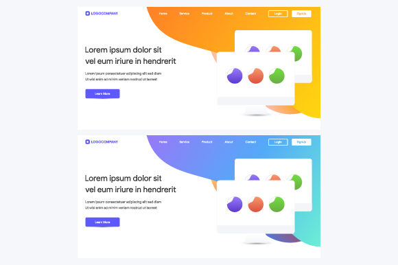 Modern Flat Design for Website and Landing Page Template Graphic Web Elements By MrBrahmana