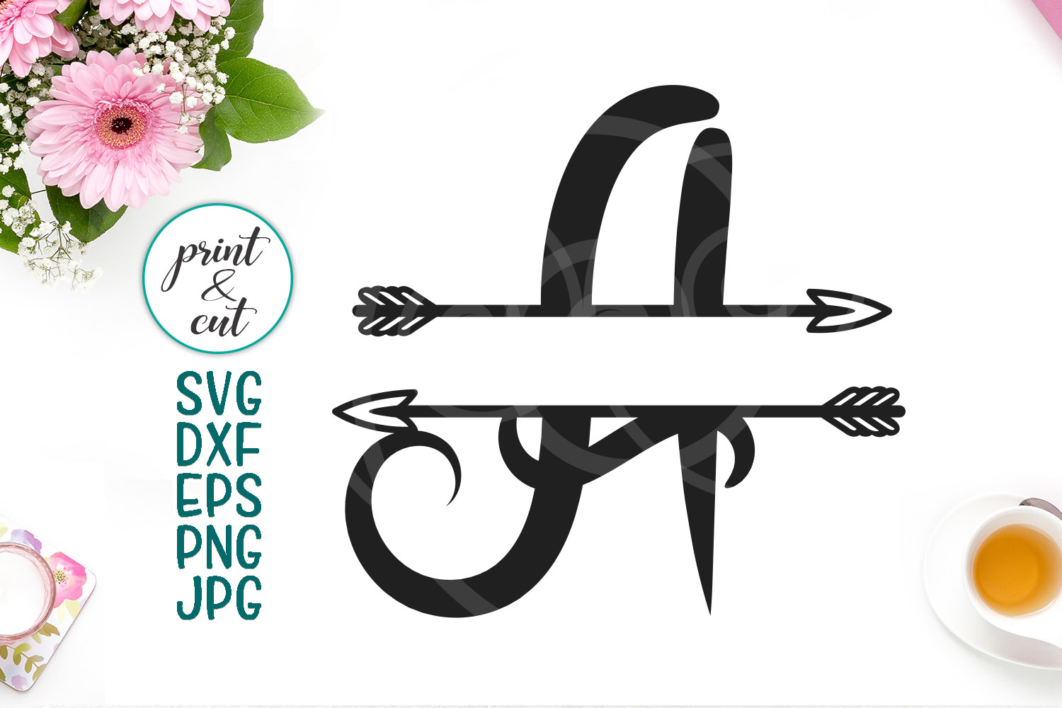 Download Free Monogram Letter A Svg Graphic By Cornelia Creative Fabrica for Cricut Explore, Silhouette and other cutting machines.