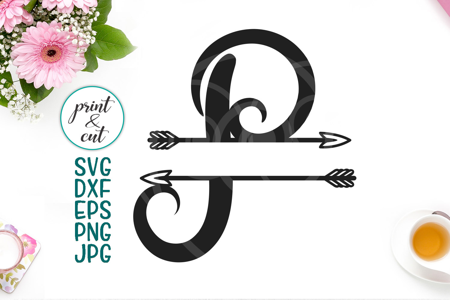 Download Free Monogram Letter P Svg Graphic By Cornelia Creative Fabrica for Cricut Explore, Silhouette and other cutting machines.