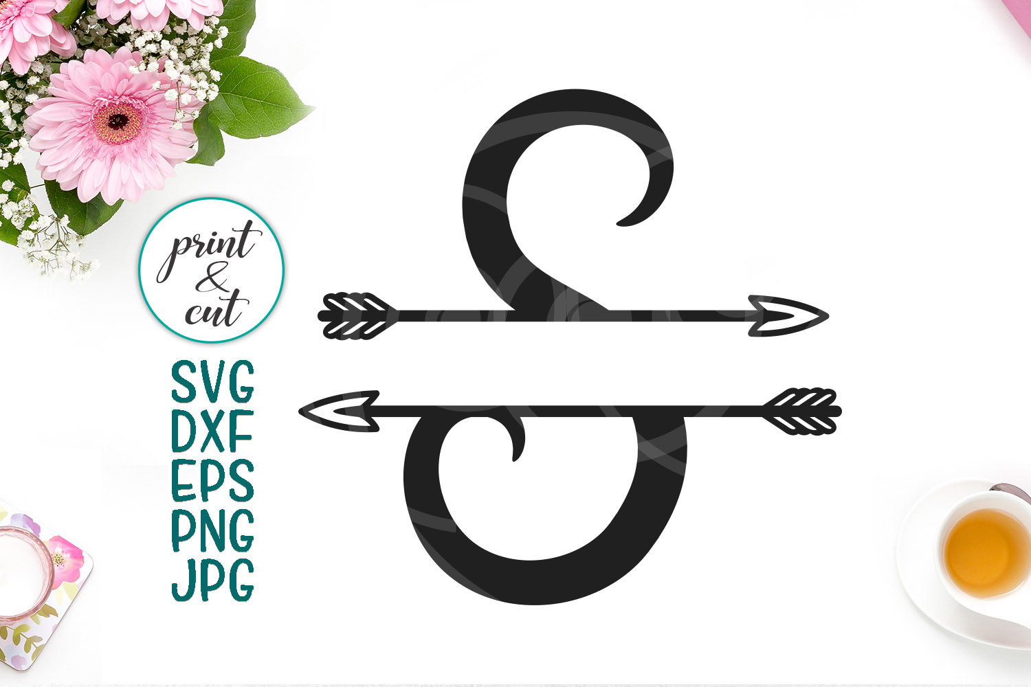 Download Free Monogram Letter S Svg Graphic By Cornelia Creative Fabrica for Cricut Explore, Silhouette and other cutting machines.