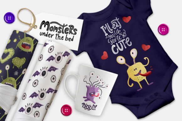 Print on Demand: Monster House Graphic Pack Graphic Illustrations By Red Ink - Image 2