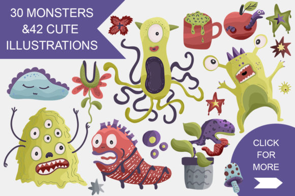 Print on Demand: Monster House Graphic Pack Graphic Illustrations By Red Ink - Image 4