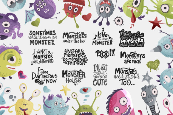 Print on Demand: Monster House Graphic Pack Graphic Illustrations By Red Ink - Image 6