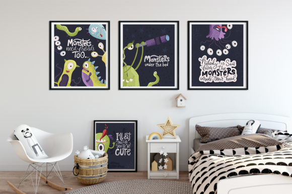 Print on Demand: Monster House Graphic Pack Graphic Illustrations By Red Ink - Image 8