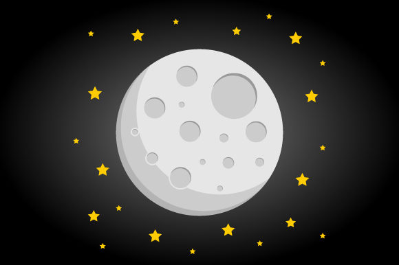 Download Free Moon And Stars Vector Illustration Graphic By Hartgraphic for Cricut Explore, Silhouette and other cutting machines.