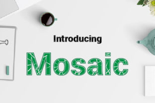 Mosaic Font By da_only_aan