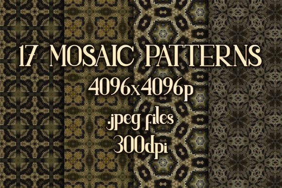 Mosaic Patterns Graphic Patterns By vessto