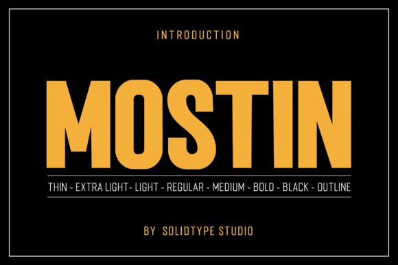 Print on Demand: Mostin Sans Serif Font By Solidtype - Image 4