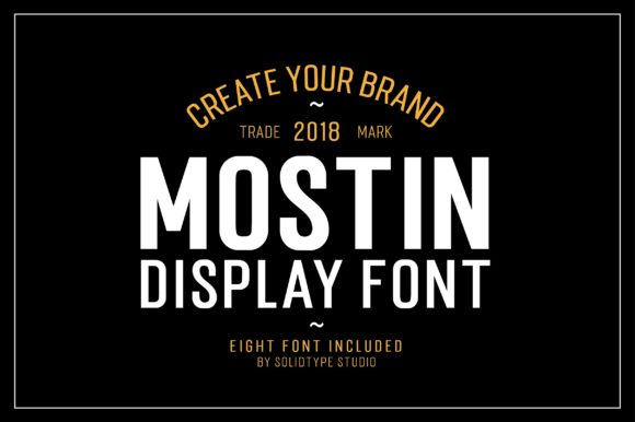 Print on Demand: Mostin Sans Serif Font By Solidtype - Image 6