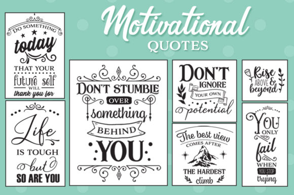 Motivational SVG Bundle Graphic Crafts By Nerd Mama Cut Files