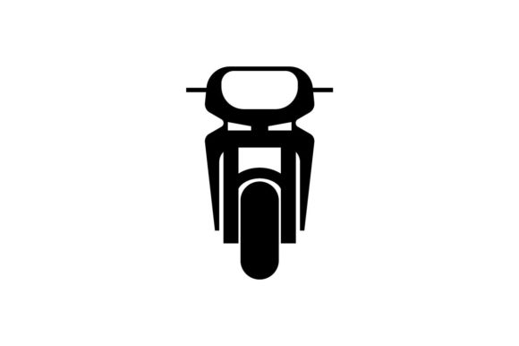 Download Free Motorbike Monochrome Icon Graphic By Hoeda80 Creative Fabrica for Cricut Explore, Silhouette and other cutting machines.