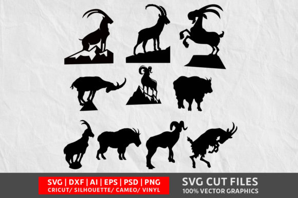 Download Free Mountain Goat Grafico Por Design Palace Creative Fabrica for Cricut Explore, Silhouette and other cutting machines.