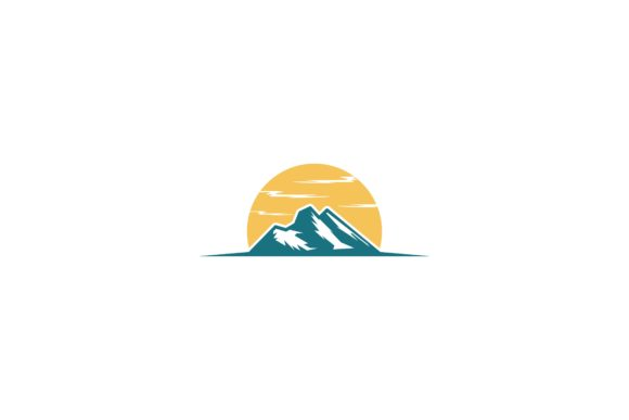 Download Free Mountain And Sun Shine Logo Graphic By Yahyaanasatokillah for Cricut Explore, Silhouette and other cutting machines.