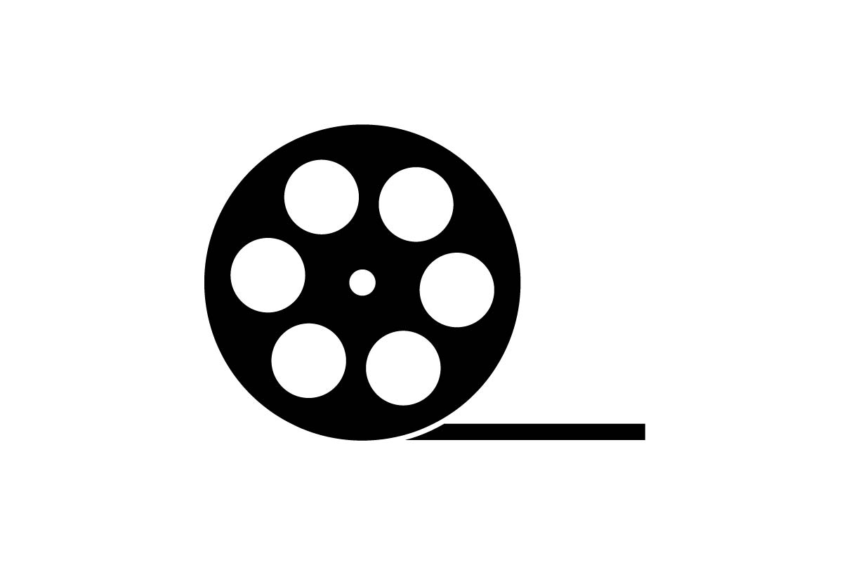 icon roll entertainment cinema eps icons graphic