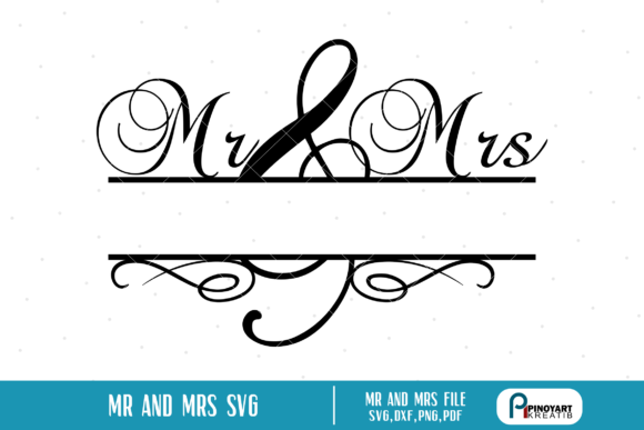 Download Free Mr And Mrs Split Monogram Graphic By Pinoyartkreatib Creative for Cricut Explore, Silhouette and other cutting machines.