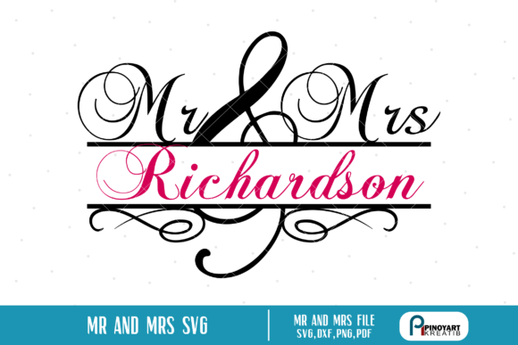 Mr and Mrs Split Monogram  Graphic Crafts By Pinoyartkreatib