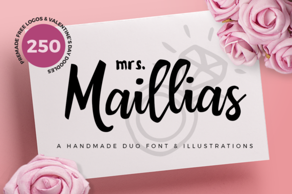 Print on Demand: Mrs Maillias Duo Script & Handwritten Font By duka