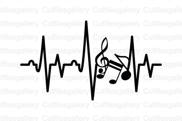 Download Free Music Note Heartbeat Svg Graphic By Cutfilesgallery Creative for Cricut Explore, Silhouette and other cutting machines.