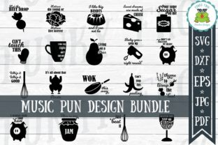 Download Free Music Puns Design Bundle Graphic By Funkyfrogcreativedesigns for Cricut Explore, Silhouette and other cutting machines.