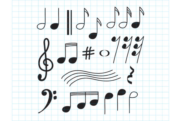 Print on Demand: Music Note Design Graphic Objects By sabavector