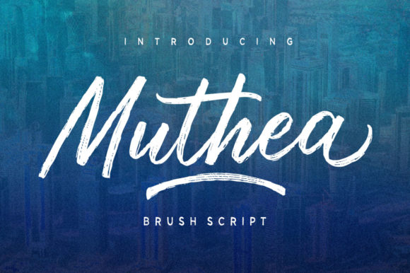 Print on Demand: Muthea Script & Handwritten Font By Discipline