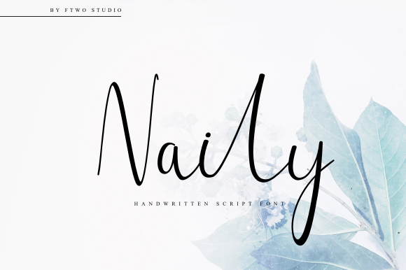 Print on Demand: Naily Script & Handwritten Font By Ftwostudio