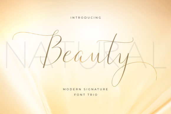 Print on Demand: Natural Beauty Duo Script & Handwritten Font By typehill