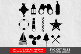 Nautical SVG Cut File Graphic By Design Palace