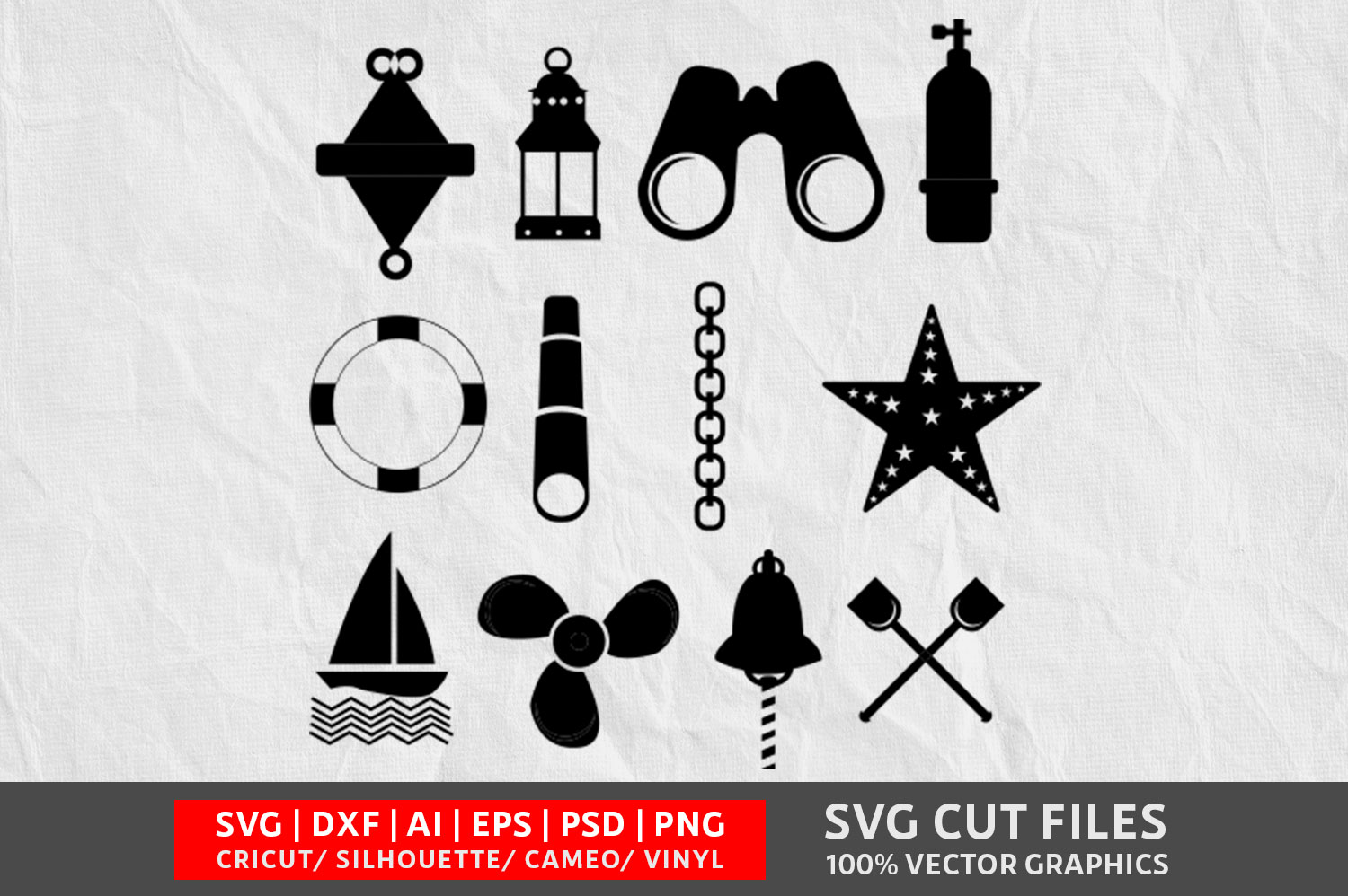Download Free Nautical File Graphic By Design Palace Creative Fabrica for Cricut Explore, Silhouette and other cutting machines.