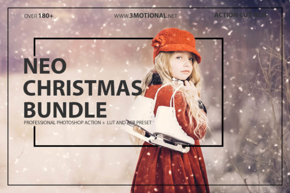 Print on Demand: Neo Christmas Theme Bundle Color Grading Graphic Actions & Presets By 3Motional