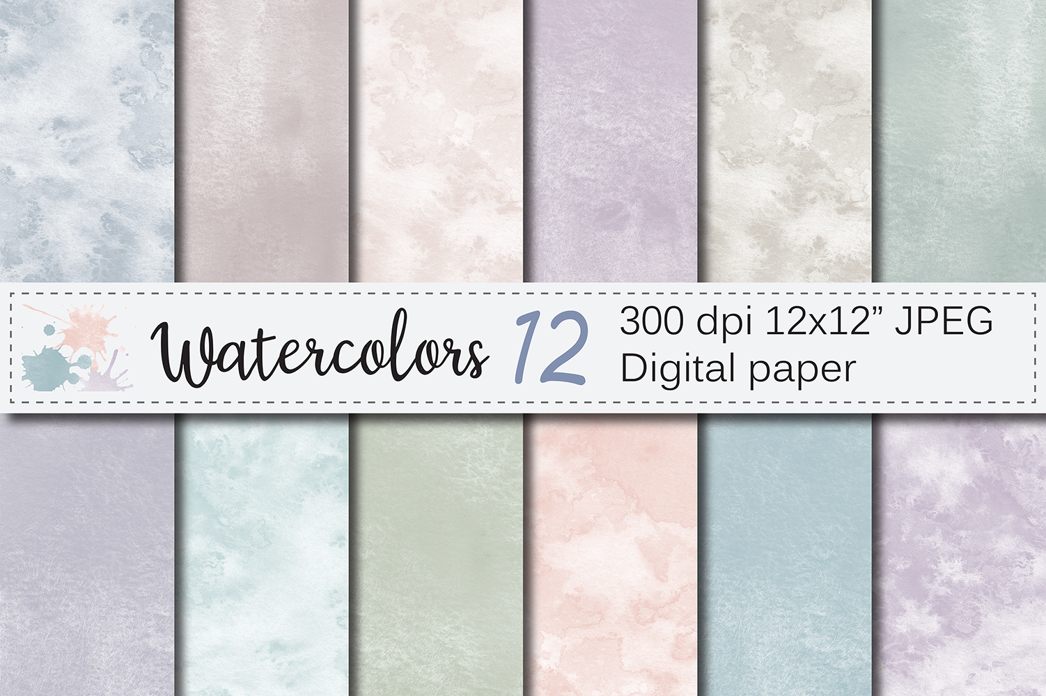 Download Free Neutral Watercolor Digital Papers Textures Backgrounds for Cricut Explore, Silhouette and other cutting machines.