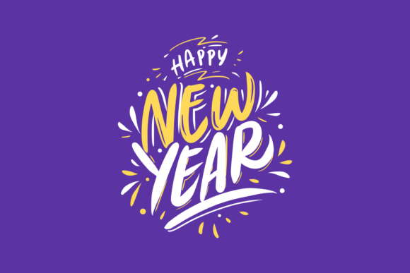 New Year Card Lettering Graphic By herbanuts
