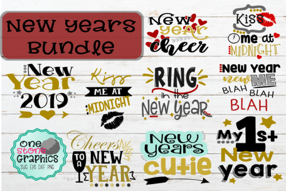 New Years Bundle Svg Graphic By OneStoneGraphics
