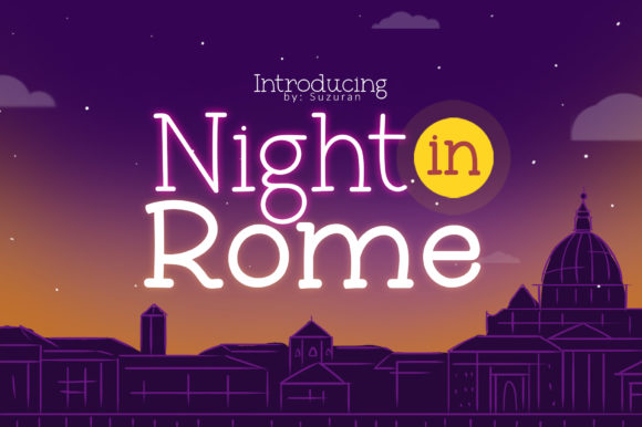 Print on Demand: Night in Rome Display Font By suzurantype