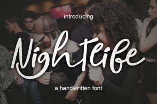 Nightlife Font By Mrletters