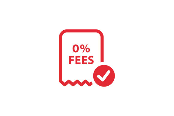 Download Free No Fee 0 Fees Icon Graphic By Kanggraphic Creative Fabrica for Cricut Explore, Silhouette and other cutting machines.