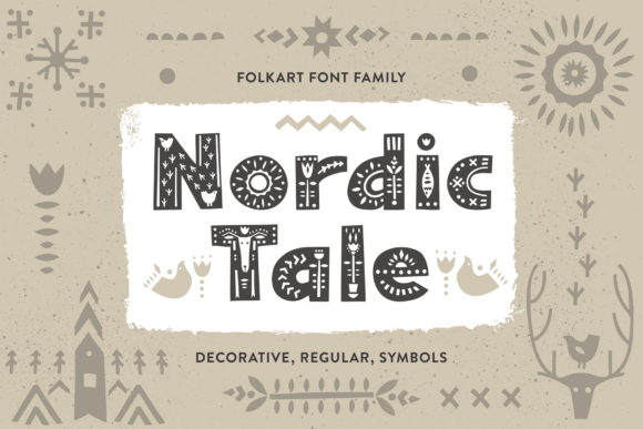Print on Demand: Nordic Tale Family Display Fuente Por struvictory