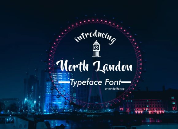 North Landon Script Script & Handwritten Font By Muhammad Ersya