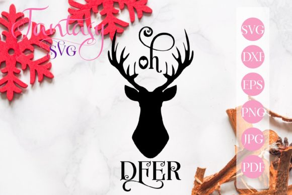 Print on Demand: Oh Deer Svg Cut File Graphic Crafts By Fantasy SVG