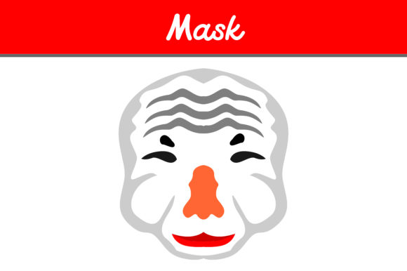 Print on Demand: Old Mask Graphic Icons By Arief Sapta Adjie - Image 1