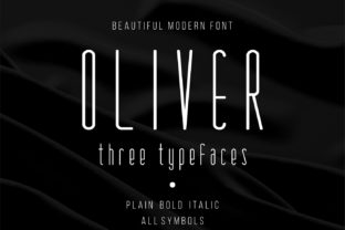 Print on Demand: Oliver Family Display Font By bywahtung