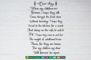 One Day When My Children Are Grown Svg Graphic By Amitta
