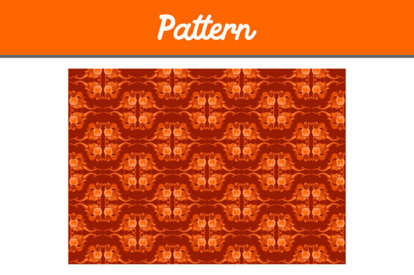 Print on Demand: Orange Background Pattern Ornamen Graphic Patterns By Arief Sapta Adjie II
