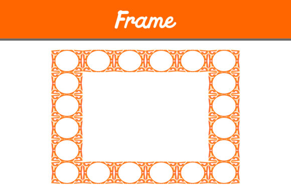 Print on Demand: Orange Frame Ornament Pattern Graphic Backgrounds By Arief Sapta Adjie II