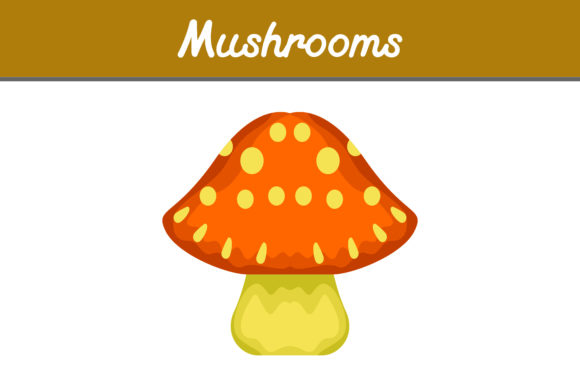 Print on Demand: Orange Mushrooms Graphic Icons By Arief Sapta Adjie