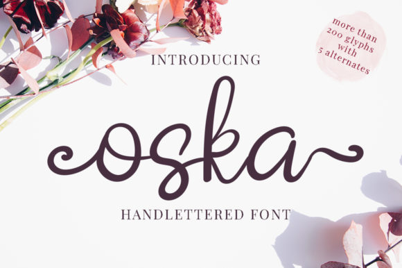 Print on Demand: Oska Script & Handwritten Font By attypestudio