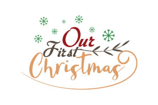 Print on Demand: Our First Christmas Gráfico Crafts Por TheLucky